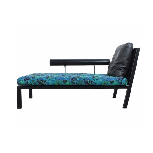 """1980s Mid-Century Modern Antonio Citterio for B&b Italia """"Baisity"""" Leather Chaise Lounge For Sale - Image 9 of 11"""