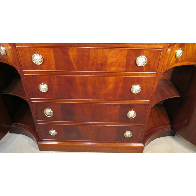 1940s Mahogany Credenza For Sale - Image 9 of 11