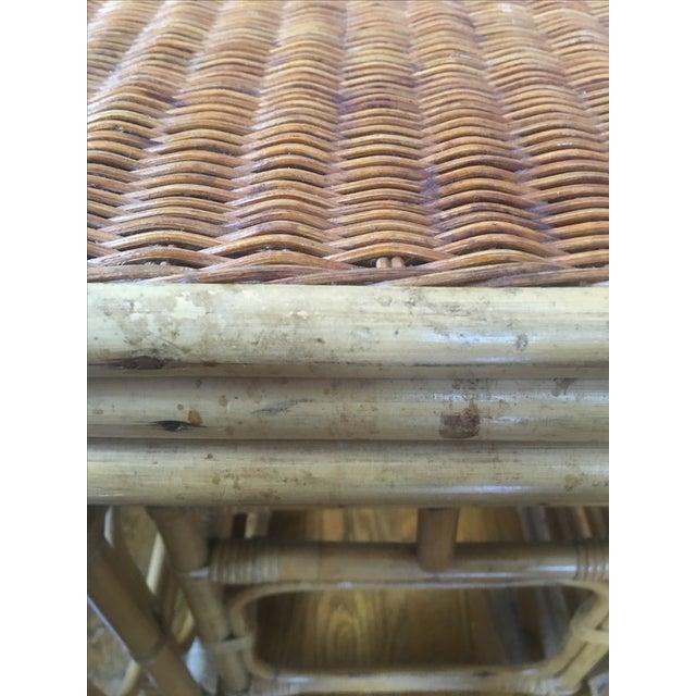 Vintage Rattan Nesting Tables - Set of 3 - Image 6 of 6