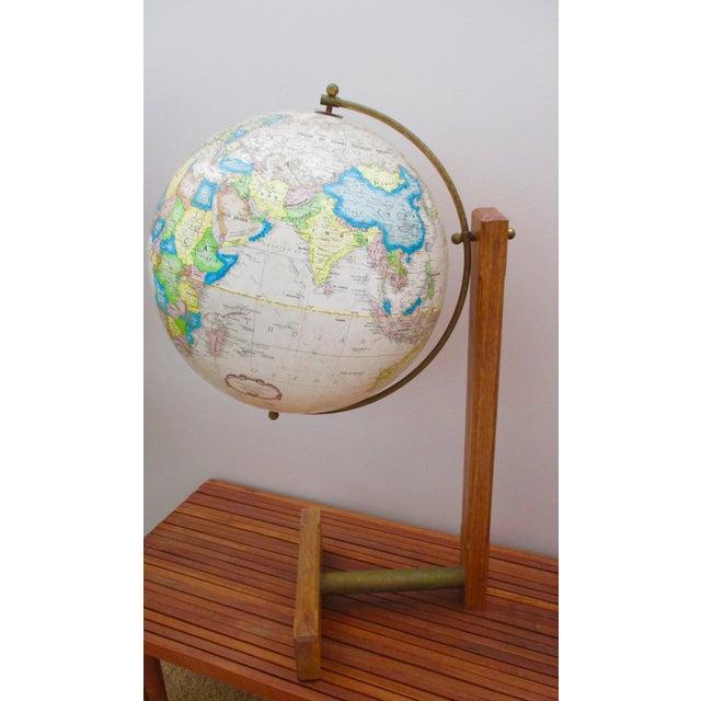 Replogle Globes Sleek Modernist Floor Globe on Wood & Metal Stand For Sale - Image 4 of 11