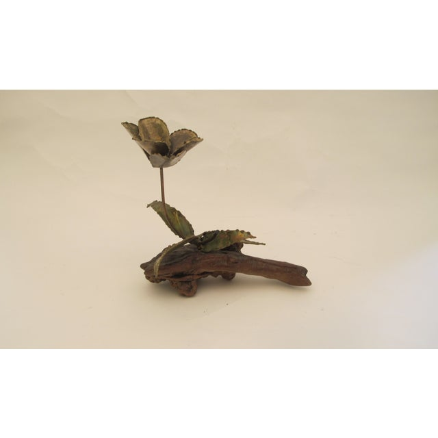 1960s Curtis Jere Style Metal Flower Sculpture - Image 5 of 5