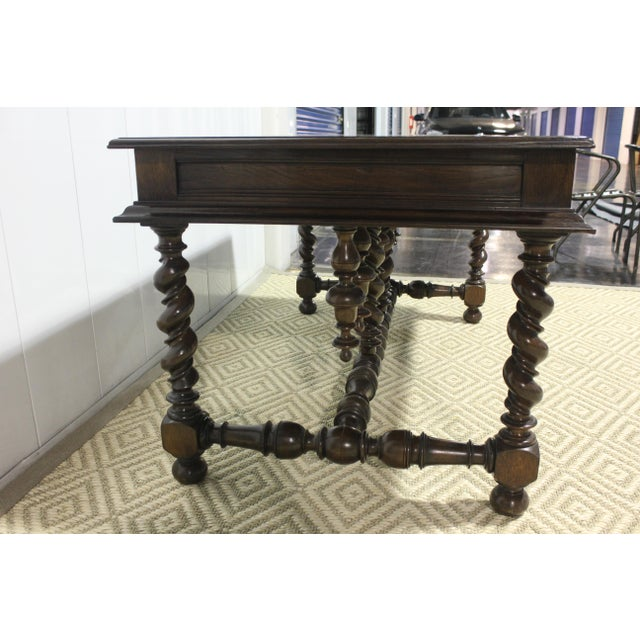 Traditional 1800s Traditional Portuguese Desk Circa With Two Drawers For Sale - Image 3 of 7