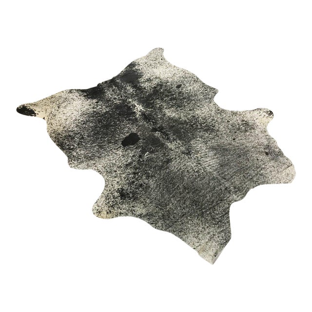 Black & White Speckled Cowhide Rug - Image 1 of 3