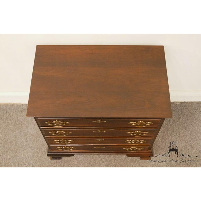 Late 20th Century Chippendale Style 4 Drawer Solid Mahogany Accent Chest For Sale - Image 5 of 13