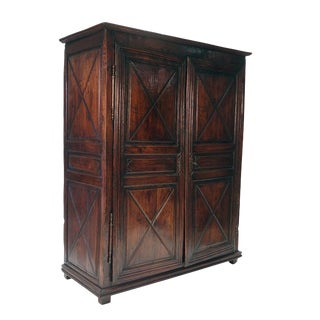 Mid 19th Century Louis XIII French Walnut Armoire For Sale