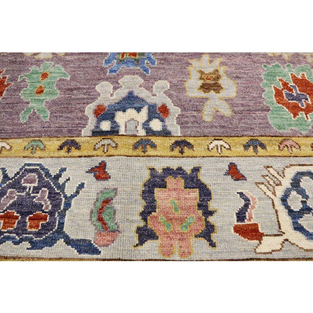 Textile Contemporary Oushak Style Rug - 8′10″ × 12′2″ For Sale - Image 7 of 8