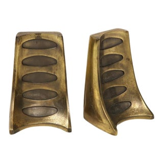 Bronze Bookends by Ben Seibel - a Pair For Sale
