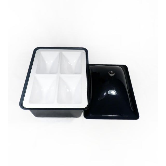 Mid-Century Modern Smoked Acrylic Ice Bucket and Cold Food Server For Sale - Image 3 of 7