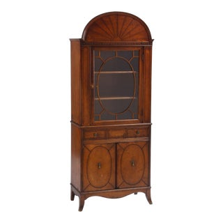 Federal Inspired Curio Cabinet For Sale