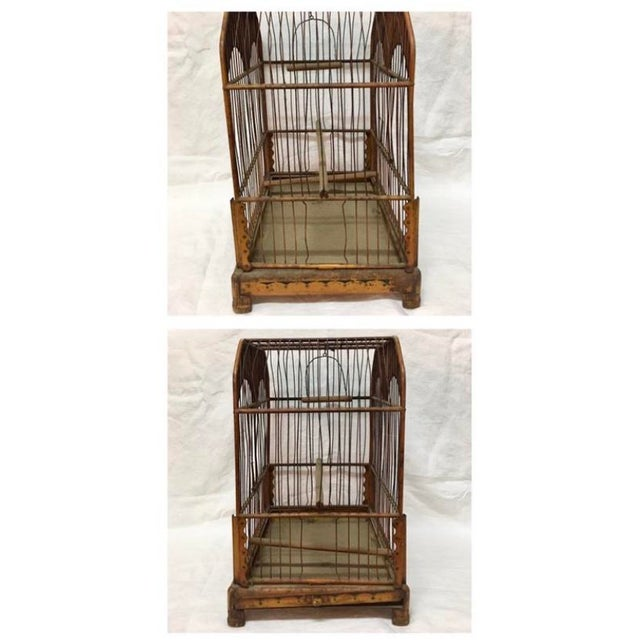 Late 19th Century Wonderful European Tole Birdcage For Sale - Image 5 of 7