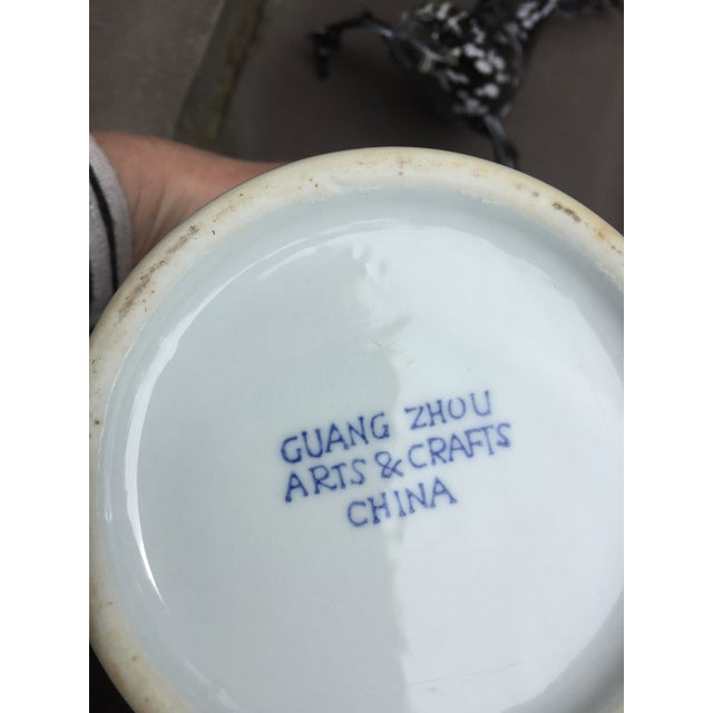 1960's Vintage Chinoiserie Garden Seat or Ginger Jar For Sale In Chicago - Image 6 of 7