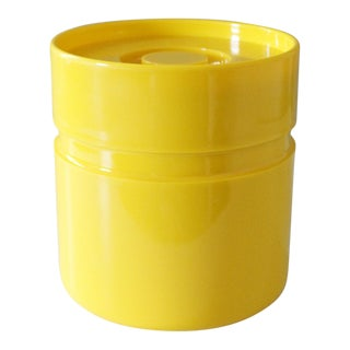 Heller Ice Bucket Melamine Modern Canister Sergio Asti Yellow For Sale