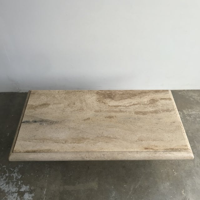 Mid-Century Modern Solid Travertine Coffee Table For Sale - Image 3 of 12