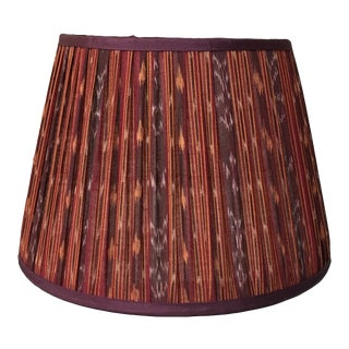 Penny Morrison Red Ikat With Blackberry Trim Lamp Shade For Sale