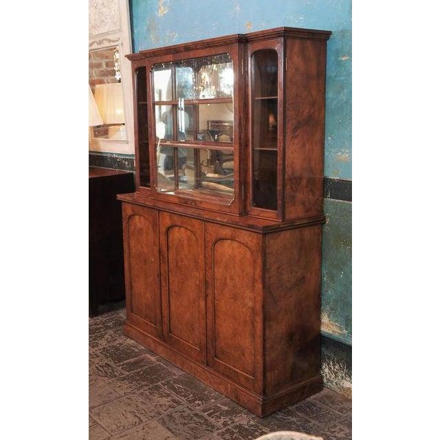 "Brown English Burl Walnut ""Cocktails"" Bar Cabinet-1920's For Sale - Image 8 of 9"