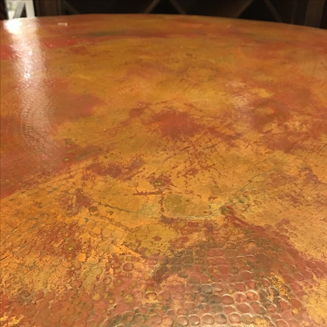 Vintage Copper-Top Bar Table - Image 7 of 9