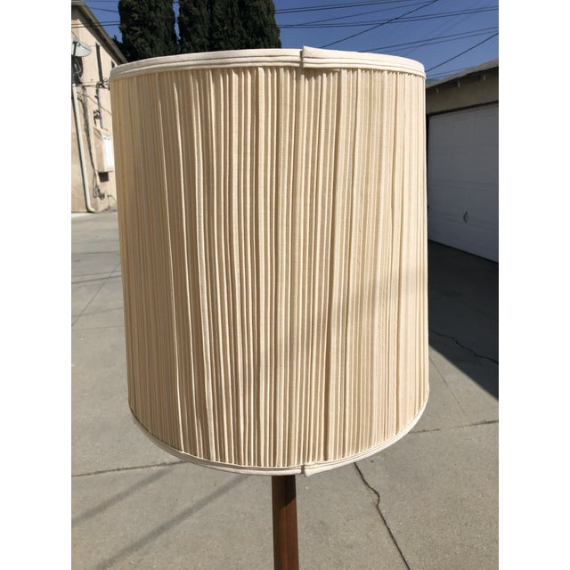 Wood Mid-Century Modern Vintage Teak Floor Lamp For Sale - Image 7 of 13