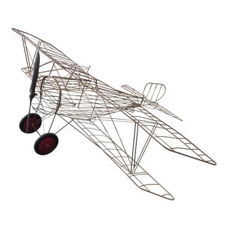 French Bi-Plane Hanging Sculpture For Sale