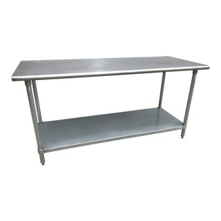 1980s Industrial Tabco Stainless Steel Work Table For Sale