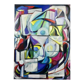 """Deon Robertson """"Windows 2000"""" Abstract Oil on Canvas Painting For Sale"""