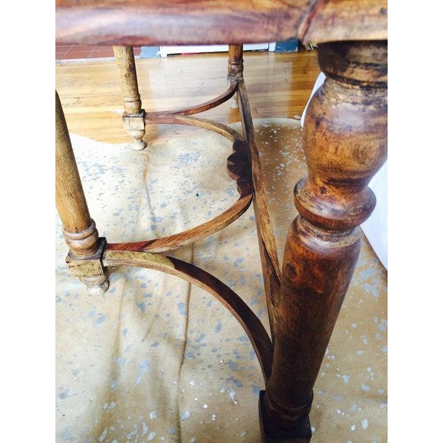 Antique Oak Hall Desk - Image 4 of 7