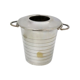 Art Deco Silver-Plate Champagne Bucket For Sale