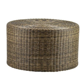 Woven Fiber Low Side Table For Sale