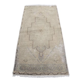 Decorative Muted Tone Anatolian Rug - 1′8″ × 3′4″