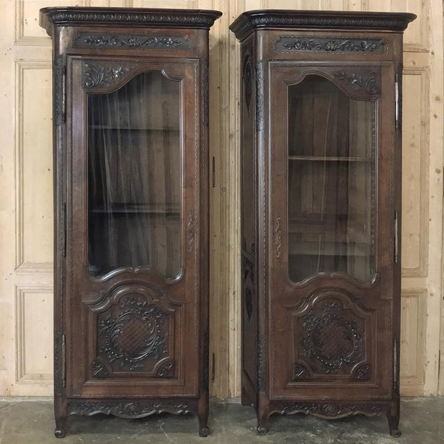Pair Mirror Image 19th Century Country French Vitrines From Normandie For Sale - Image 13 of 13