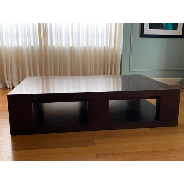 2000 - 2009 Christian Liaigre Contemporary Walnut Coffee Table For Sale - Image 5 of 13