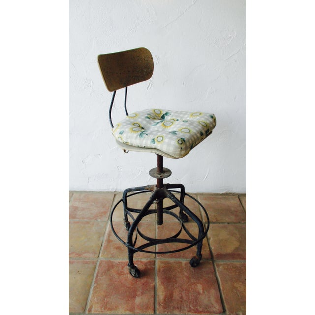 Vintage Toledo Stool With Cushion For Sale - Image 11 of 11