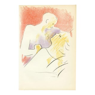 Abstract Jean Cocteau Original Lithograph Print For Sale