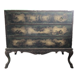 Late 19th Century Antique Hand Painted Chest of Drawers For Sale