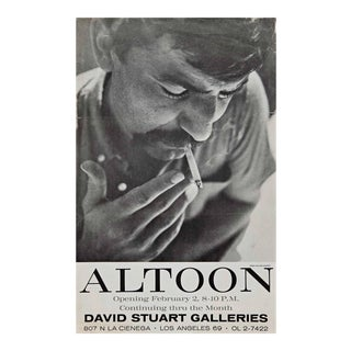 Very Rare John Altoon Poster Photographed by William Claxton For Sale