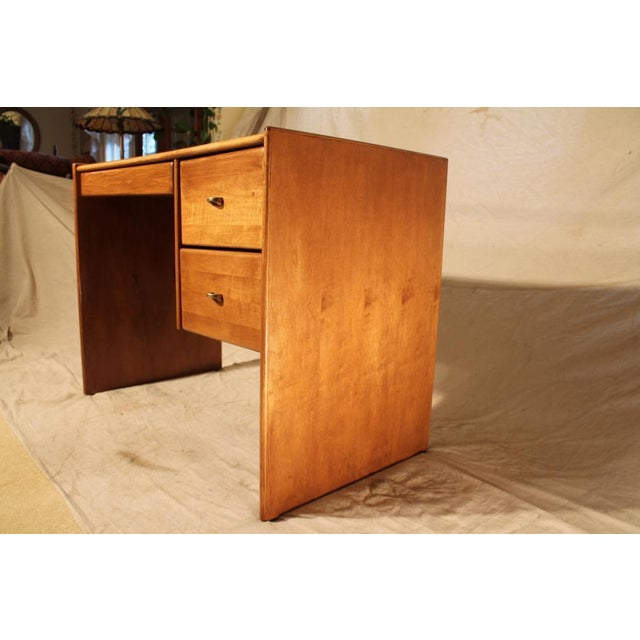 Mid-Century Student Desk with White Top - Image 6 of 8