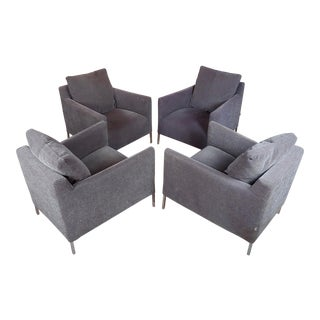 "B&b Italia ""Jean"" Armchairs by Antonio Citterio -Set of 4 For Sale"