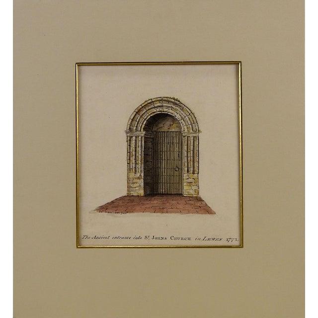 Lambert St. Johns Church Watercolor Painting For Sale