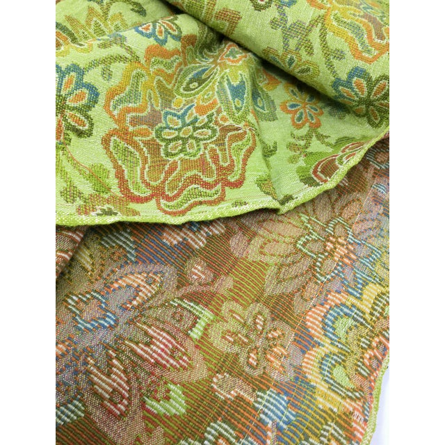 Mid-Century Modern Mid-Century Modern Multicolor Floral Upholstery Fabric For Sale - Image 3 of 7
