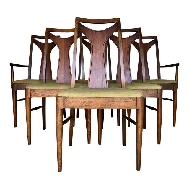 Mid Century Modern Kent Coffey Dining Chairs-Set of 6 For Sale