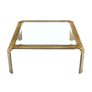 Square Modern Brass Coffee Table by Widdicomb For Sale