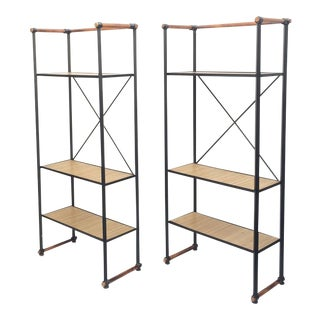 Wrought Iron Etageres by Cleo Baldon - A Pair For Sale