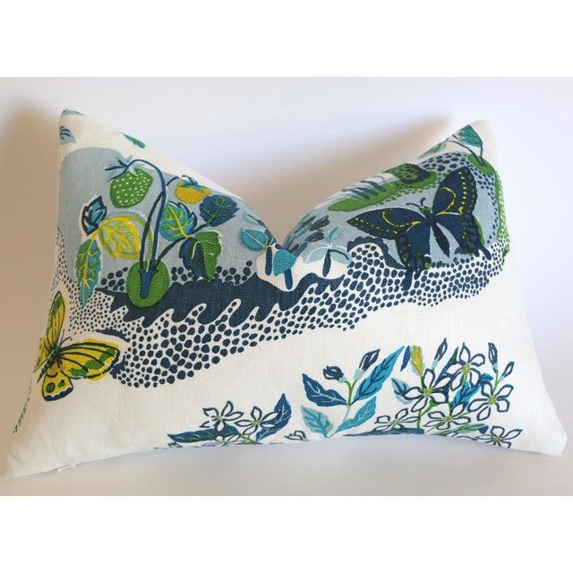 """Schumacher Schumacher Citrus Garden """"Pool"""" Lumbar Pillow Cover 12x18 For Sale - Image 4 of 4"""
