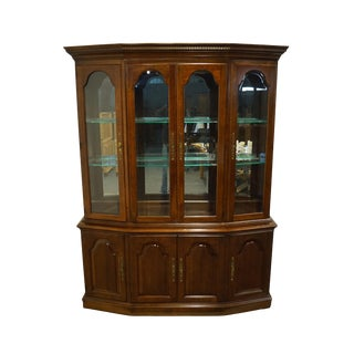 "Pennsylvania House Solid Cherry Traditional Style 61"" Lighted Display China Cabinet - 11-3611 For Sale"