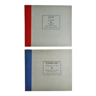 Vintage Columbia Masterworks Tchaikovsky & Liszt 78 Rpm Record Sets For Sale
