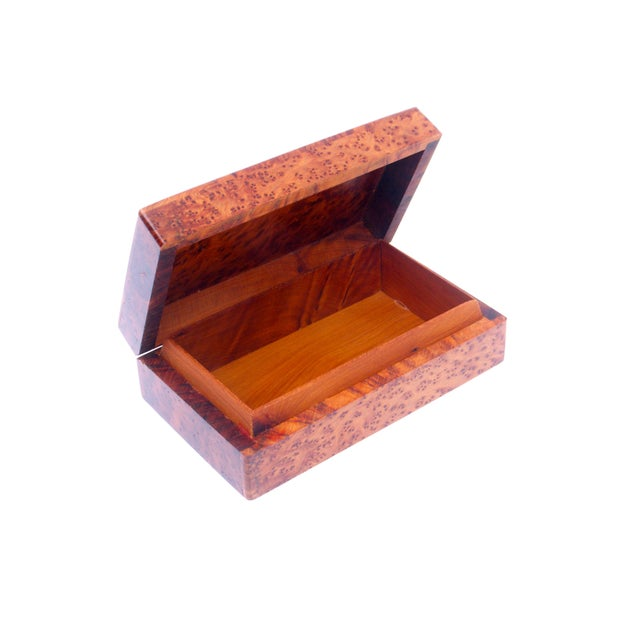 Decorative Juniper Burl Wood Box - Image 4 of 7