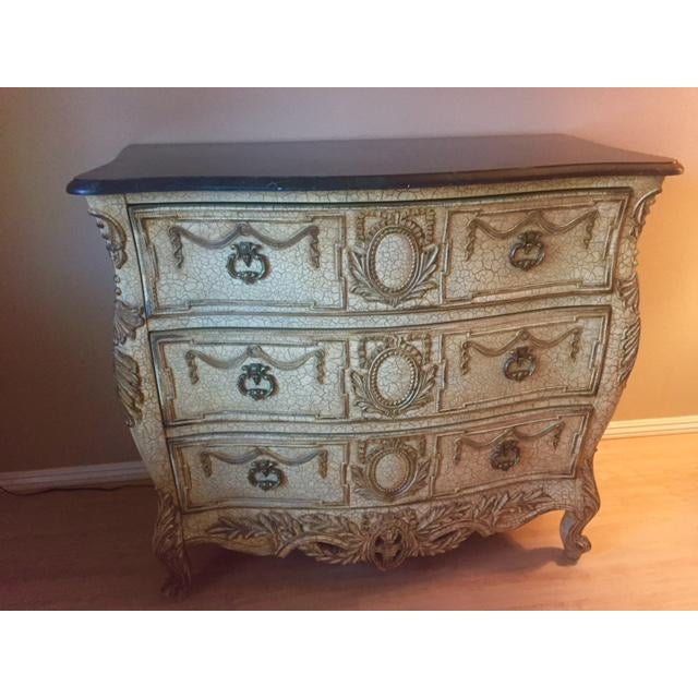 French Provincial Style Chest With Marble Top - Image 2 of 7