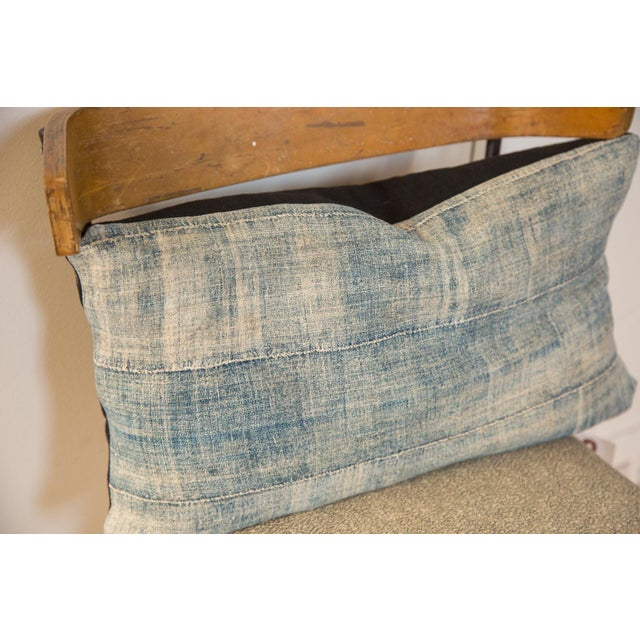 African African Indigo Handmade Pillow For Sale - Image 3 of 4