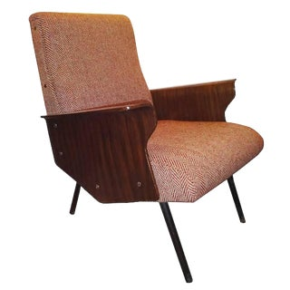 Osvaldo Borsani, Rare Single Mid-Century Club Chair, Model D72, Italy Circa 1955 For Sale