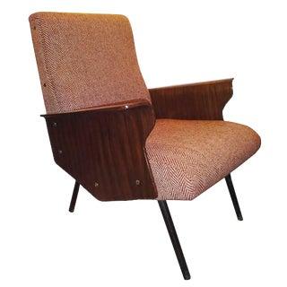 Osvaldo Borsani, Rare Single Mid-Century Club Chair, Model D72, Italy Circa 1955 For Sale