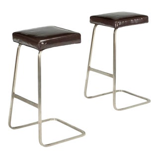 Modern Medellin Mid-Century Style Bar Stools - a Pair For Sale